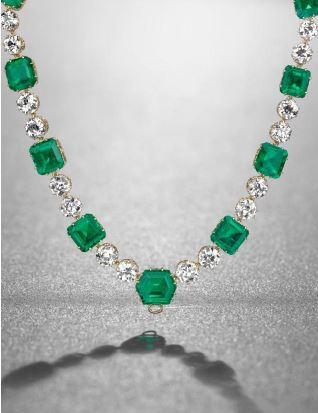 Diamonds christies geneva sale highlights a rare emerald top lots from patio include an emerald and diamond necklace by cartier pictured estimated to fetch between 7 million and 10 million aloadofball Image collections
