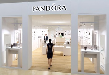 The number of Pandora-branded retail locations, known as concept stores,  increased by 336 to 2,138 in 2016, the company reported.