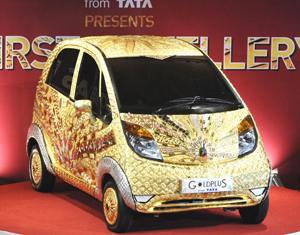 Tata Unveils The First Gold Jewelry Car