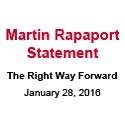 Martin Rapaport - Statement